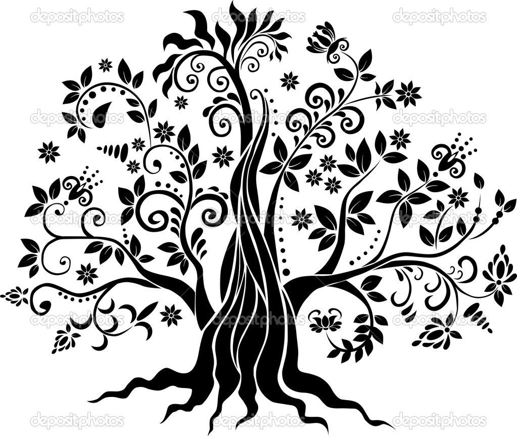Drawing Vector Lines In Photo : Vektor pohon sendia assindiya